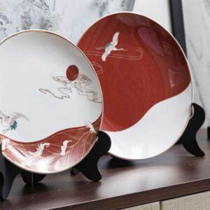 dekorativnaya tarelka zakat early morning novyj kitajskij stil 1