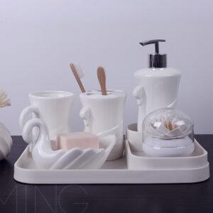 nabor dlya tualetnyh prinadlezhnostej pure swan dommu 6