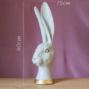 dekorativnaya statuetka white rabbit juhan 5