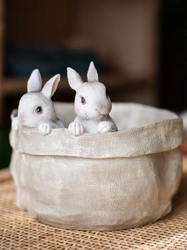 dekorativnyj czvetochnyj gorshok bunnies juhan 3