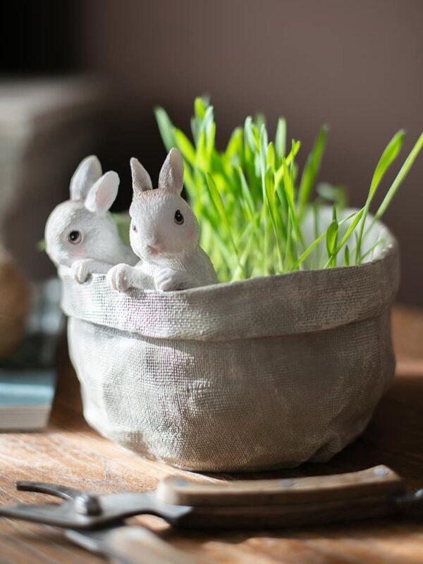 dekorativnyj czvetochnyj gorshok bunnies juhan 5