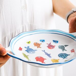 blyudo keramicheskoe colour fish xingning 3