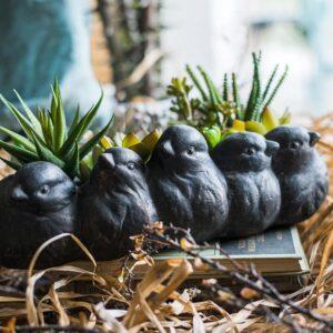 czvetochnyj gorshok keramicheskij birds juhan 5