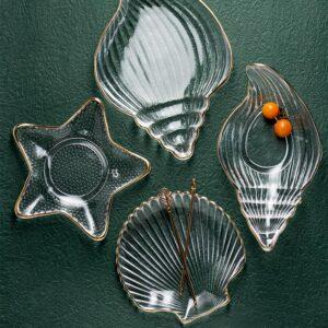 desertnaya tarelka steklyannaya seashell xingning 1