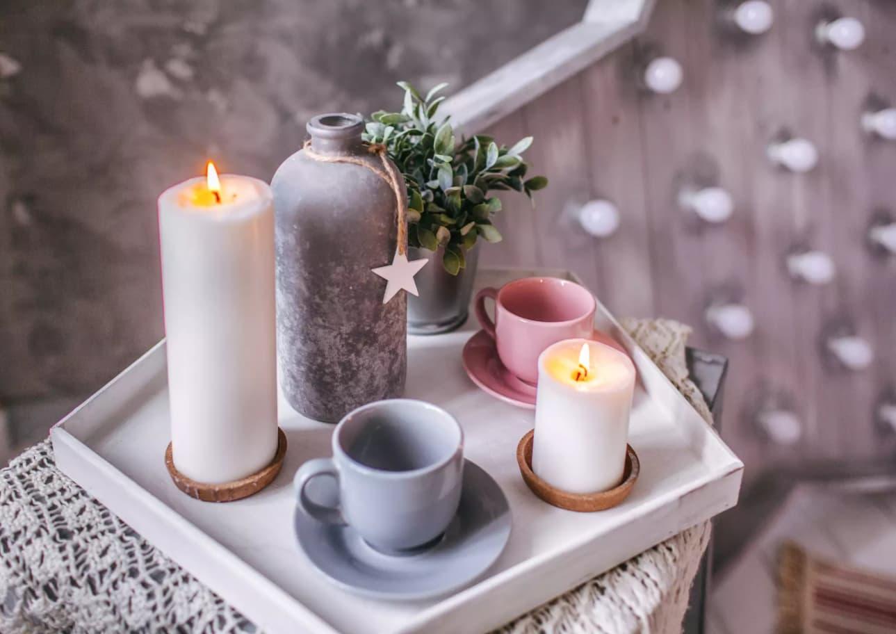 fen shuj v interere kak ispolzovat obychnye predmety dekora svechi