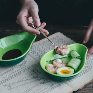 miska keramicheskaya avocado xingning 2