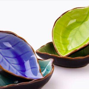 miska keramicheskaya glazed leaf xingning 3