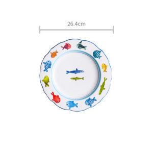 tarelka keramicheskaya colour fish xingning 1