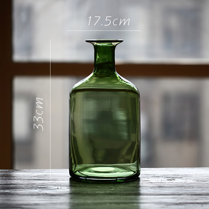 vaza steklyannaya green glass juhan 7