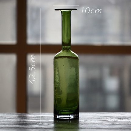 vaza steklyannaya green glass juhan 8
